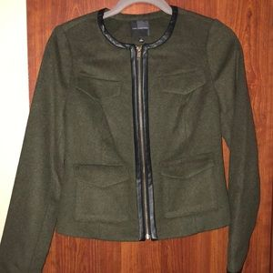 The Limited Wool Blend  Olive Blazer
